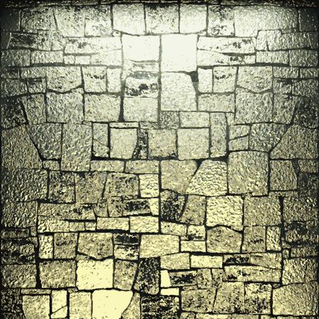 fondo de piedra: vector de lujo de oro en el fondo de piedra Vectores