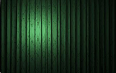 carmine: vector green curtain stage