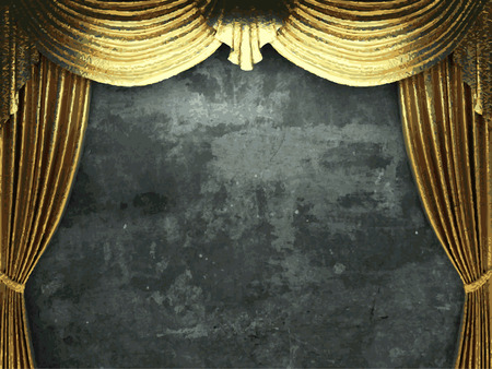 ambiance: vector golden curtain background Illustration