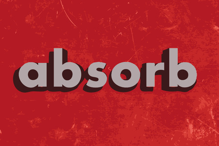 absorb: absorb vector word on red concrete wall