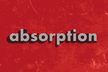 absorption: absorption vector word on red concrete wall Illustration