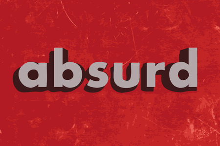 absurd: absurd vector word on red concrete wall Illustration
