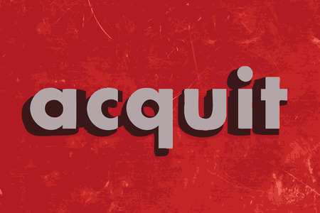 acquit: acquit vector word on red concrete wall Illustration