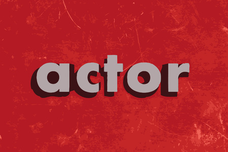 actor: actor vector word on red concrete wall Illustration