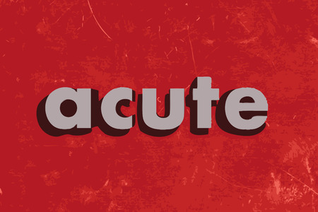 acute: acute vector word on red concrete wall Illustration