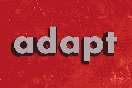 adapt: adapt vector word on red concrete wall