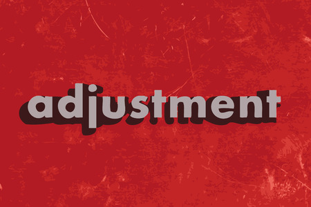 adjustment: adjustment vector word on red concrete wall Illustration