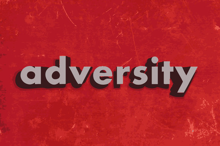 adversity: adversity vector word on red concrete wall