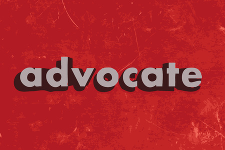advocate: advocate vector word on red concrete wall