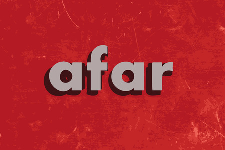 afar: afar vector word on red concrete wall Illustration