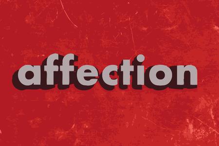 carino: palabra afecto vector en rojo muro de hormig�n