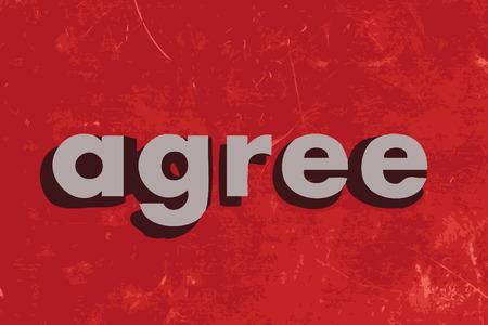 coincidir: acordar palabra vector en rojo muro de hormig�n