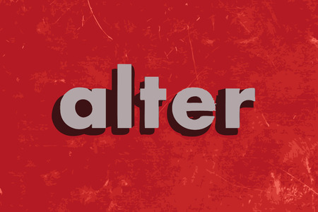 alter: alter vector word on red concrete wall