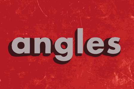 angles: angles vector word on red concrete wall