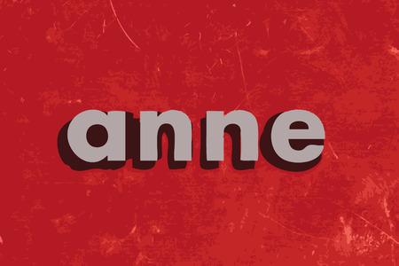 赤いコンクリート壁上のアン ベクトル単語  イラスト・ベクター素材