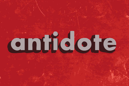 antidote: antidote vector word on red concrete wall