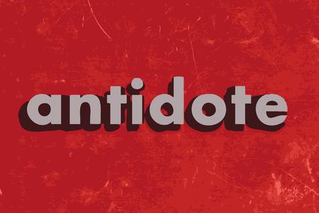 antidote: tegengif vector woord over de rode betonnen muur