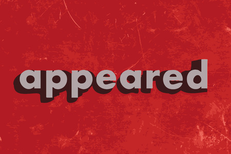 appeared: appeared vector word on red concrete wall Illustration