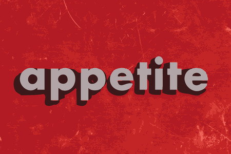 appetite: appetite vector word on red concrete wall