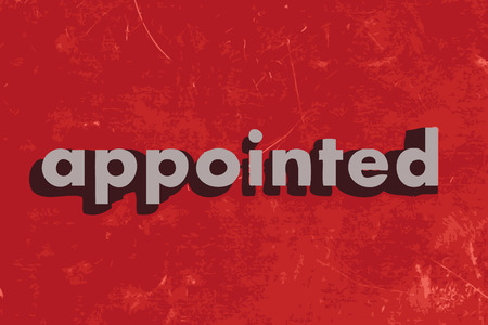 appointed: appointed vector word on red concrete wall Illustration