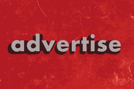 advertise: advertise vector word on red concrete wall