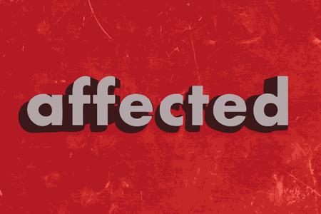 affected vector word on red concrete wall Illusztráció