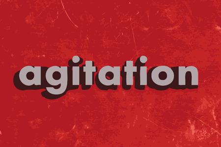 agitation: agitation vector word on red concrete wall Illustration