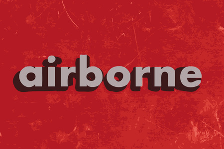 airborne: airborne vector word on red concrete wall Illustration