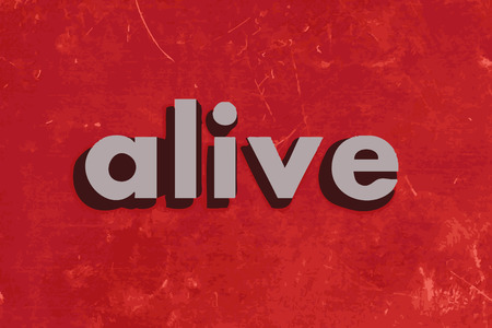 alive: alive vector word on red concrete wall