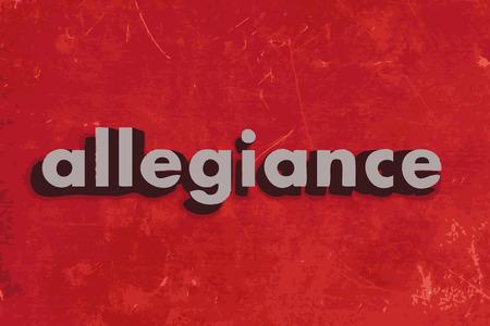 allegiance: allegiance vector word on red concrete wall Illustration