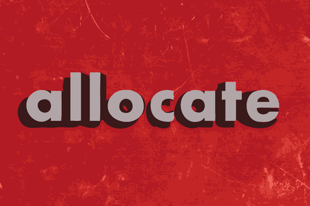 allocate: allocate vector word on red concrete wall Illustration