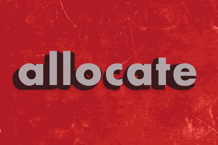 allocate: allocate vector word on red concrete wall Illustration