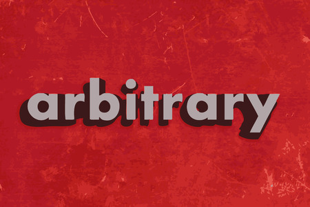 arbitrary: arbitrary vector word on red concrete wall Illustration