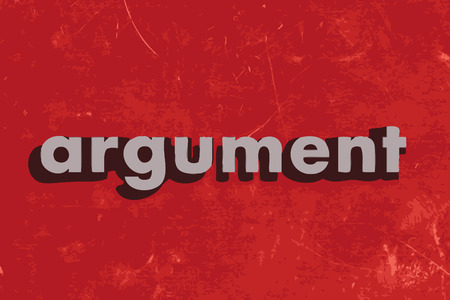 argument: argument vector word on red concrete wall