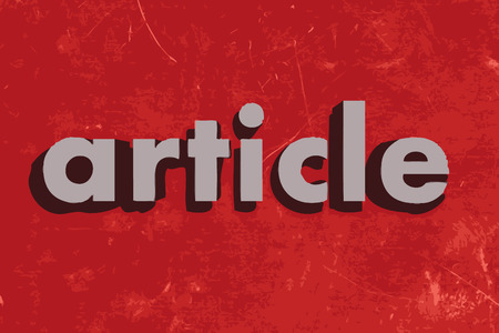 article: article vector word on red concrete wall