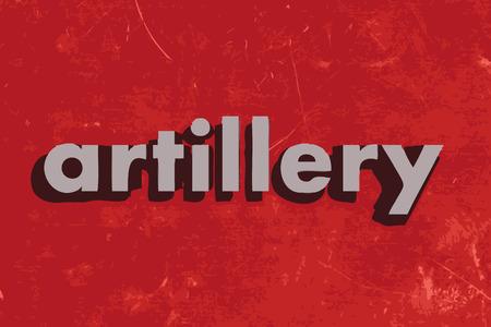 artillery: artillery vector word on red concrete wall