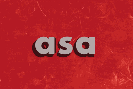 asa vector word on red concrete wall