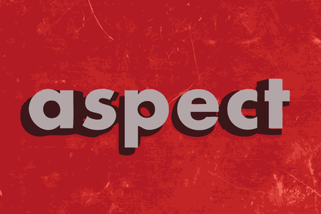 aspect: aspect vector word on red concrete wall