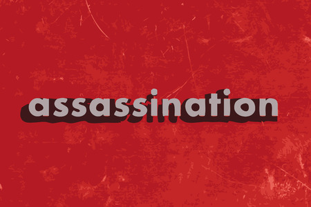 assassination: assassination vector word on red concrete wall Illustration
