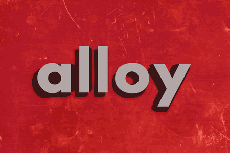 alloy: alloy vector word on red concrete wall