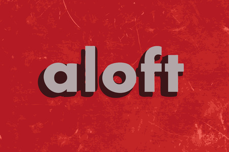 aloft: aloft vector word on red concrete wall Illustration