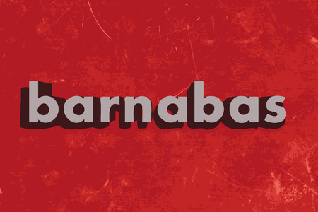 barnabas: barnabas vector word on red concrete wall