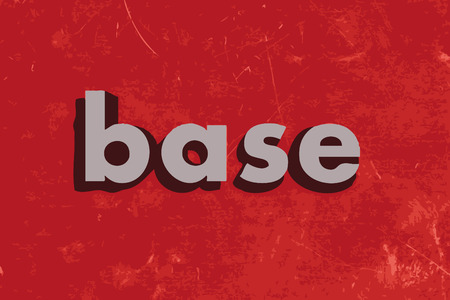 base vector word on red concrete wall