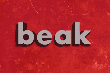 beak: beak vector word on red concrete wall