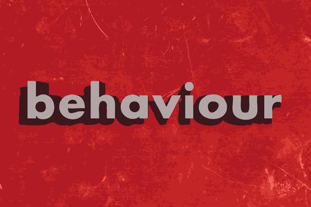 behaviour: behaviour vector word on red concrete wall