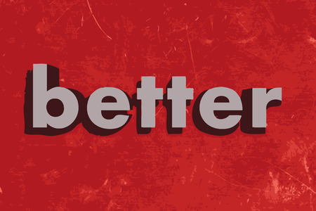better: better vector word on red concrete wall Illustration