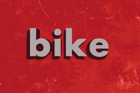 bike vector: palabra vector bicicleta en rojo muro de hormig�n Vectores