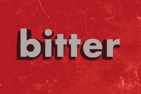 bitter: bitter vector word on red concrete wall Illustration