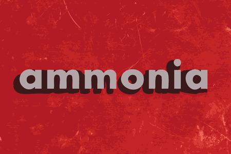 ammonia: palabra amoniaco vector en rojo muro de hormig�n Vectores