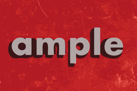 ample: ample vector word on red concrete wall Illustration